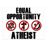 Equal Opportunity Atheist Postcard