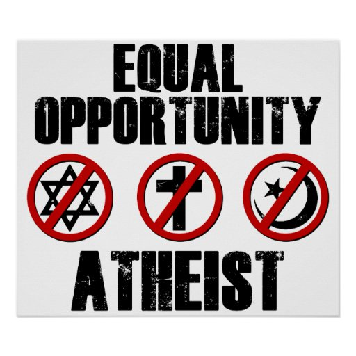 Equal Opportunity Atheist Print