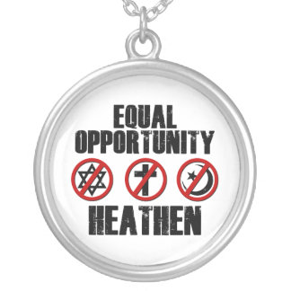 Equal Opportunity Heathen Silver Plated Necklace