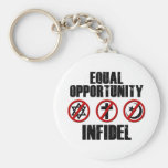 Equal Opportunity Infidel Basic Round Button Keychain