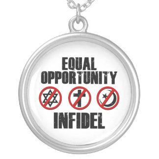 Equal Opportunity Infidel Round Pendant Necklace