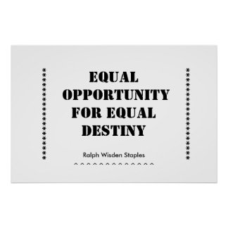 Equal opportunity posters