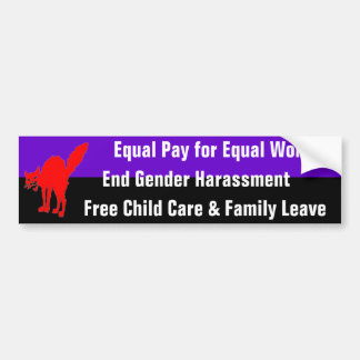 equal pay for equal work bumper sticker