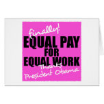 Equal Pay For Equal Work Greeting Cards
