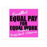 Equal Pay For Equal Work Postcard