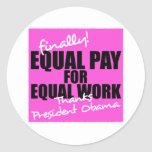 Equal Pay For Equal Work Sticker