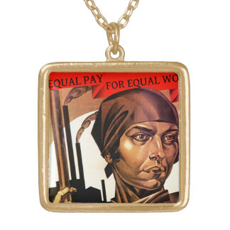 Equal Pay Vintage Womens Equality Necklace