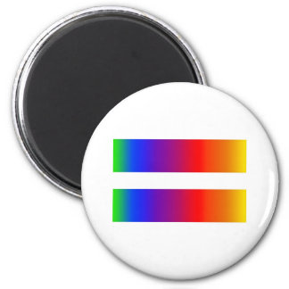 Equal Rainbow 2 Inch Round Magnet