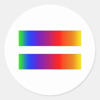 Equal Rainbow Classic Round Sticker