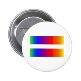 Equal Rainbow Pinback Button