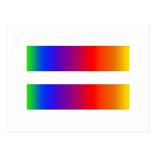 Equal Rainbow Postcard