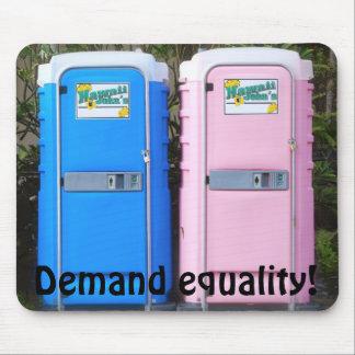 Equal Rights Bathroom Joke Mouse Pad