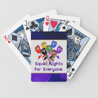 Equal Rights Bicycle Playing Cards