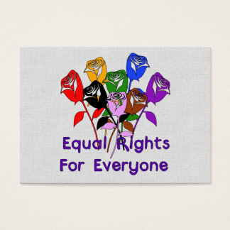 Equal Rights Business Card