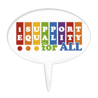 Equal Rights cake topper