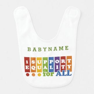 Equal Rights custom baby bib