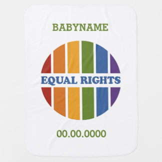 Equal Rights custom baby blanket