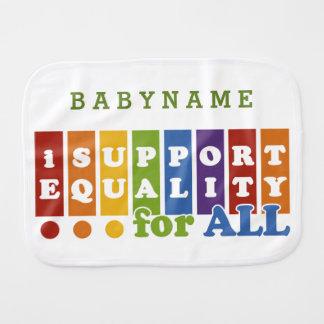 Equal Rights custom burp cloth