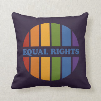 Equal Rights custom color throw pillow