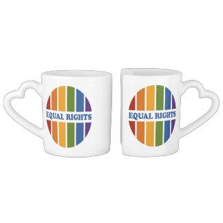 Equal Rights custom couple's mugs
