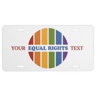 Equal Rights custom license plates