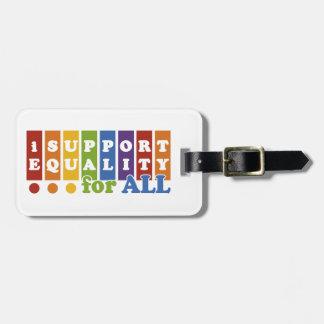 Equal Rights custom luggage tag