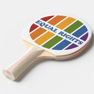 Equal Rights custom monogram ping pong paddle