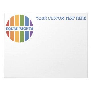 Equal Rights custom notepad