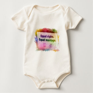 Equal Rights Equal Marriage Baby Bodysuit