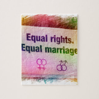 Equal Rights Equal Marriage Jigsaw Puzzle