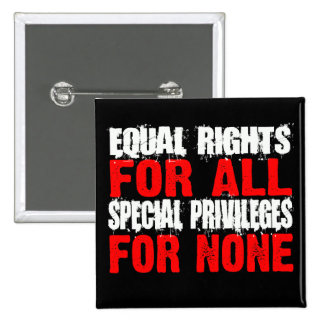 Equal Rights For All Button 2 Inch Square Button
