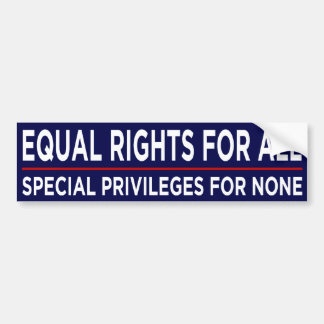 Equal Rights For All Car Bumper Sticker