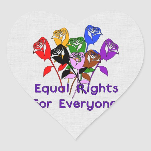 Equal Rights Heart Sticker