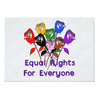 Equal Rights 5x7 Paper Invitation Card