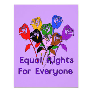 Equal Rights 4.25x5.5 Paper Invitation Card