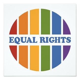 Equal Rights invitation 13 Cm X 13 Cm Square Invitation Card