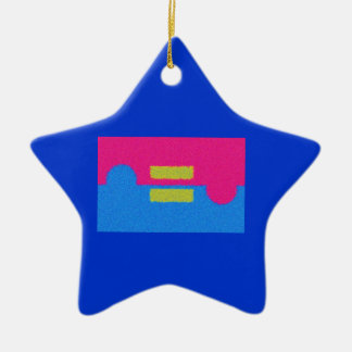 Equal Rights Logo, Impressionist's Style Ceramic Ornament