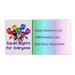 Equal Rights Personalized Shipping Label