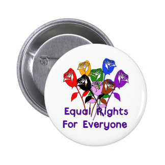 Equal Rights Pinback Button