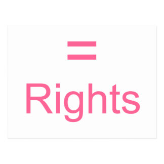 Equal Rights Postcard