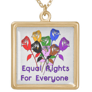 Equal Rights Square Pendant Necklace