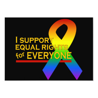 Equal Rights Supporter invitation, customize Card
