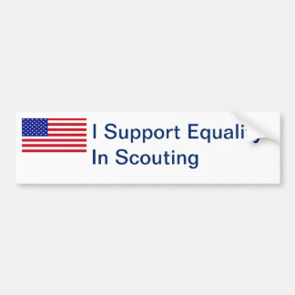 Equal Scouting Bumper Sticker