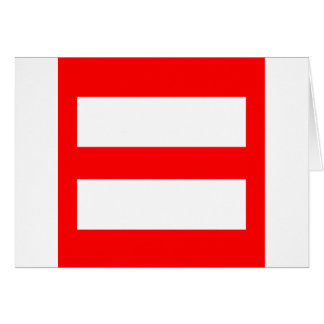 Equal Sign Card