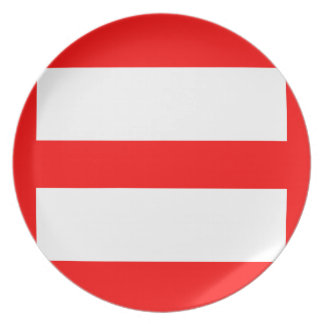 Equal Sign Party Plate
