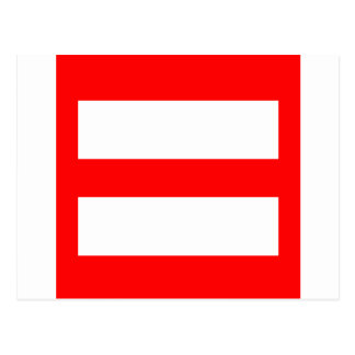 Equal Sign Postcard
