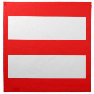 Equal Sign Printed Napkin