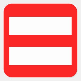Equal Sign Square Sticker