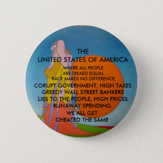 equal treatment, all are cheated pinback button