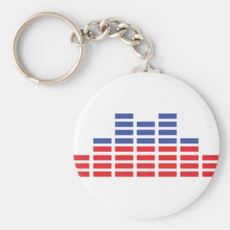 equaliser icon basic round button keychain